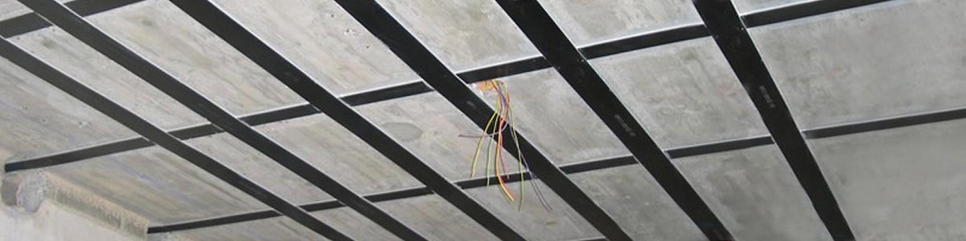 Instandsetzung von Decken mittels CFK Lamellen