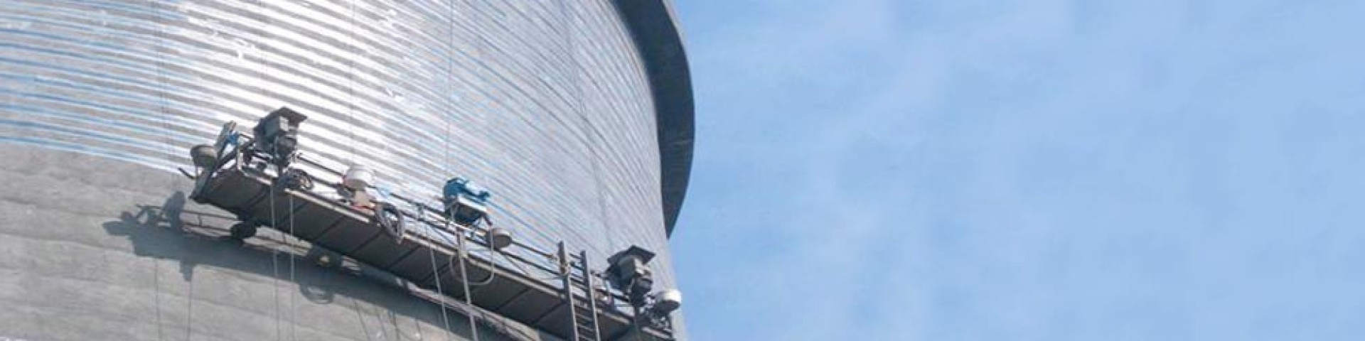Strengthening of cooling towers with carbon fiber wraps